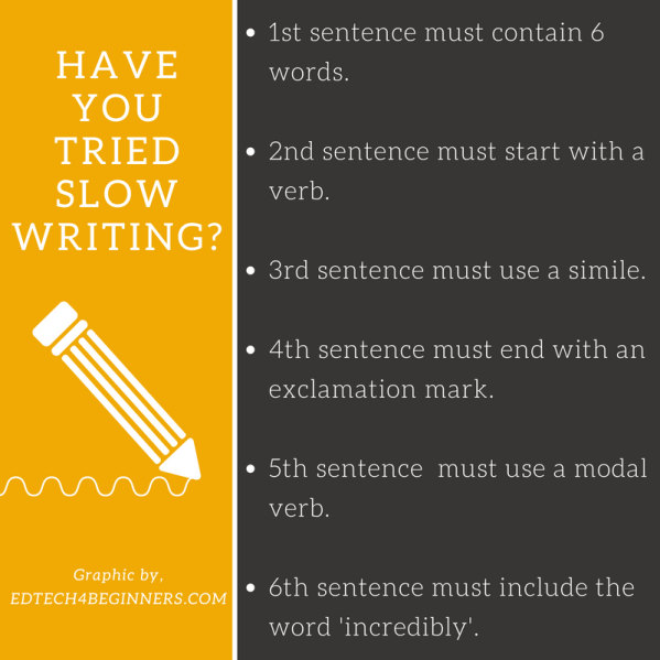 teaching slow writing