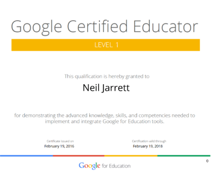 Neil Jarrett Google Educator