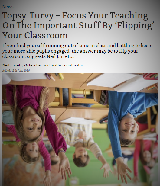 Teachwire Article On Flipping Your Classroom