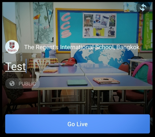 Facebook Live In The Classroom