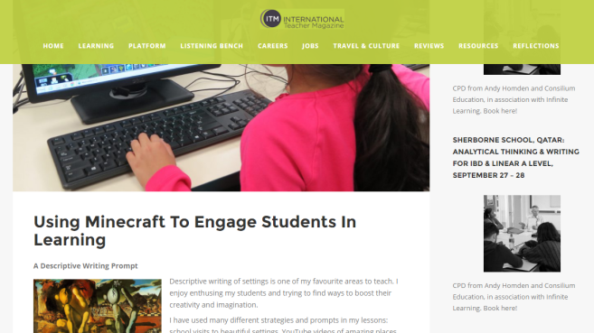 Using Minecraft To Engage Students In Learning