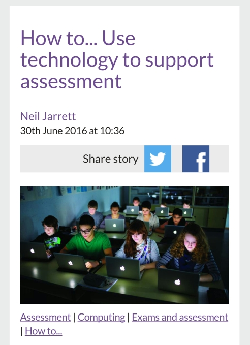 Assessment tech tools for teaching.