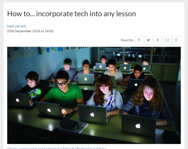 Incorporating tech into lessons