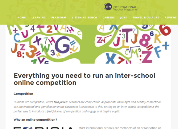 How to run an inter-school online competition