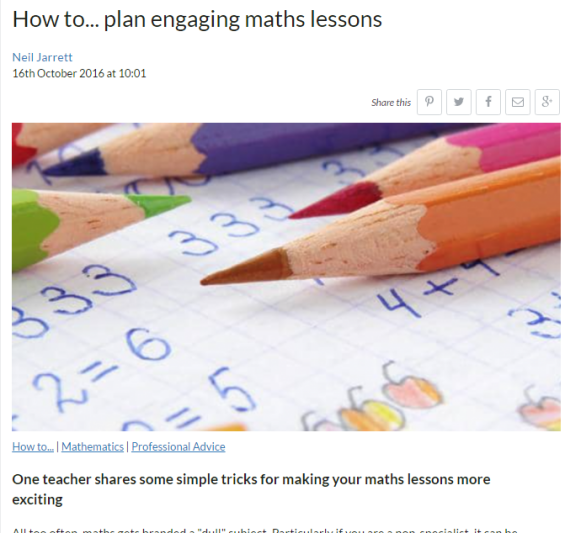 How to plan an engaging maths lesson