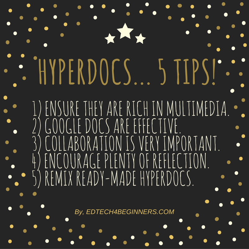 Hyperdocs - tips for teachers and educators