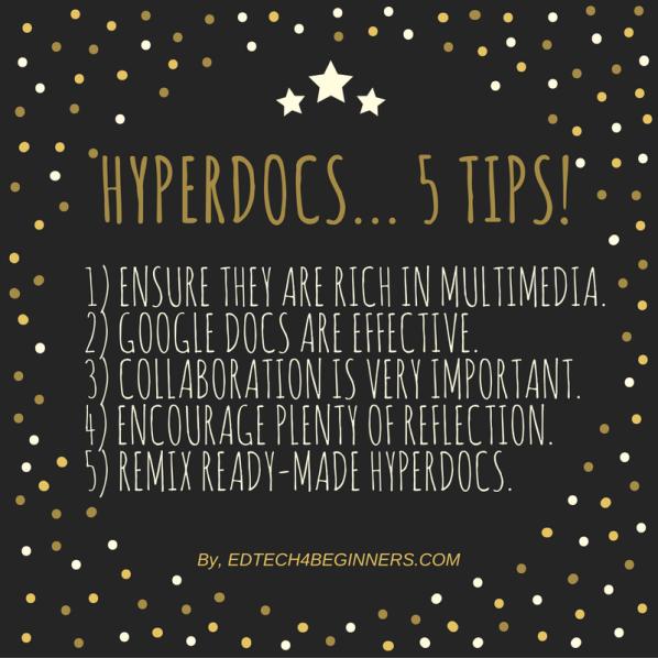 Hyperdocs - tips for teachers and educators