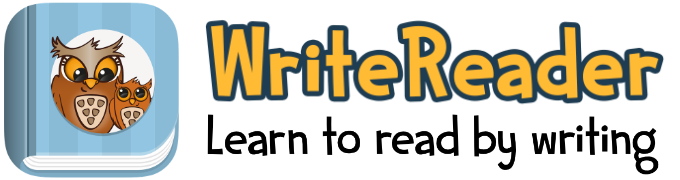 Writereader - reading and writing app for teaching