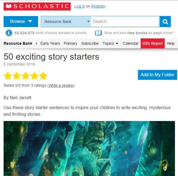 50 Story Starters