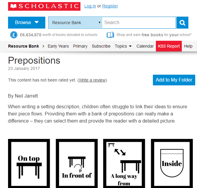 Prepositions resource