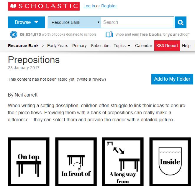Prepositions resource