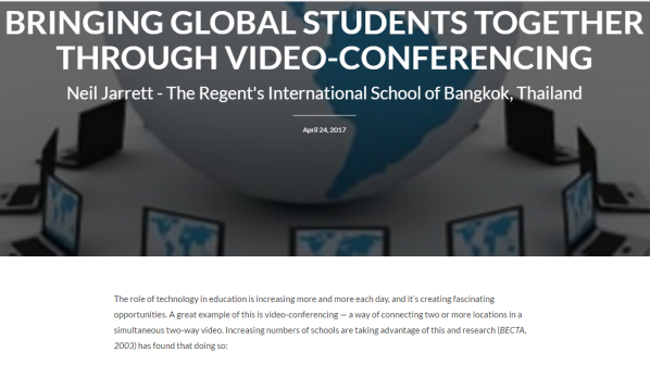 Connecting students through video-conferencing