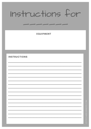 Instructions Writing Template