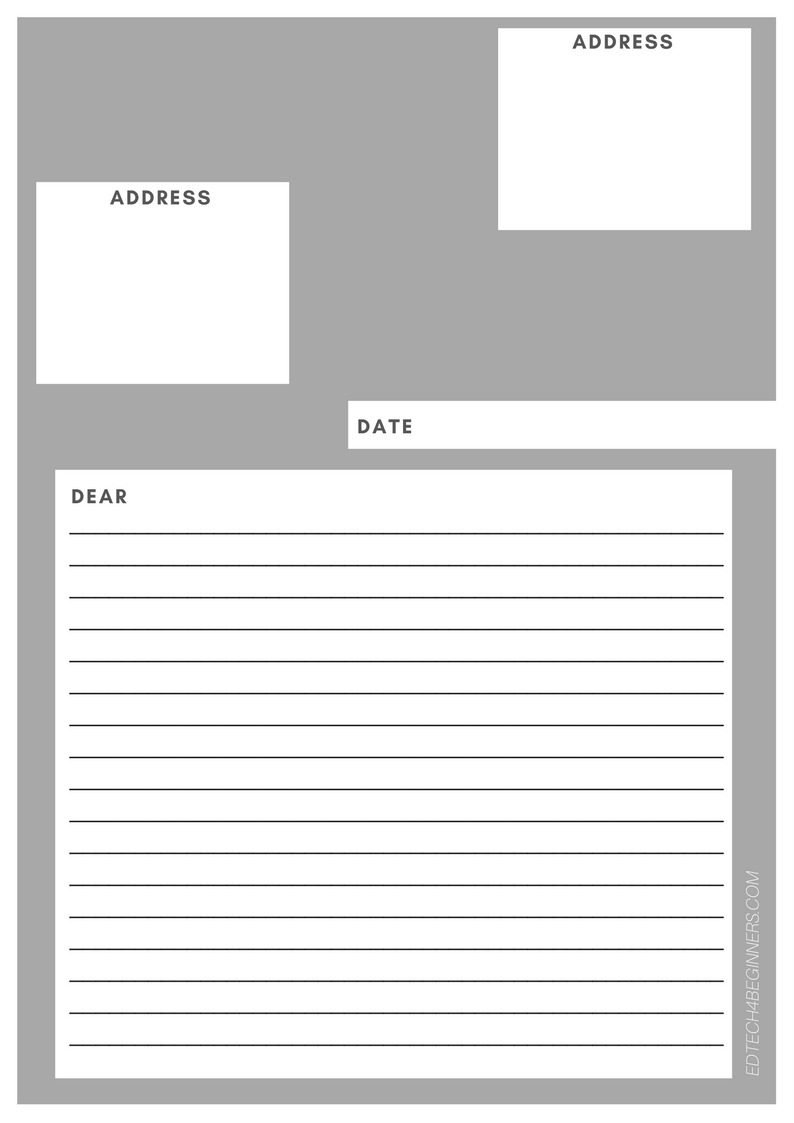 7) Letter Writing Template: Letter Writing Template  Letter Writing Template