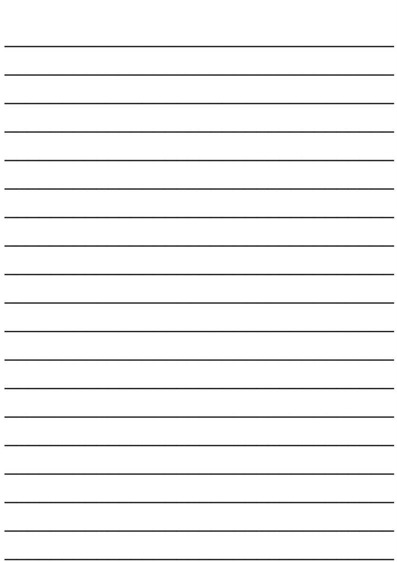 Medium lined paper template