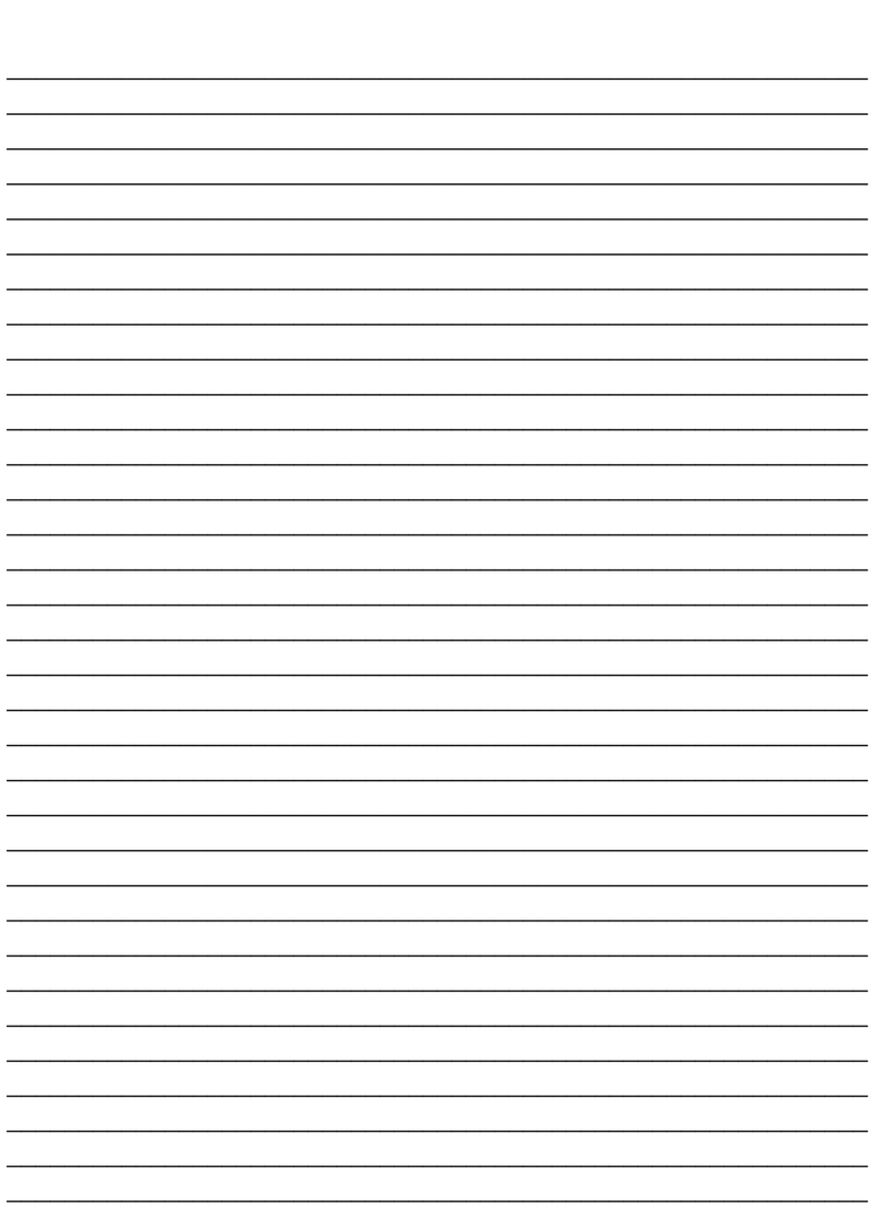 Small lined paper template