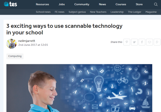3 exciting ways to use scannable technology in your school