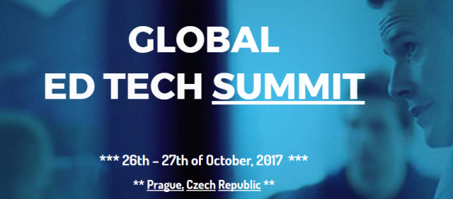 EDTECH 4 BEGINNERS presenting at the Global EdTech Summit 2017 in Prague