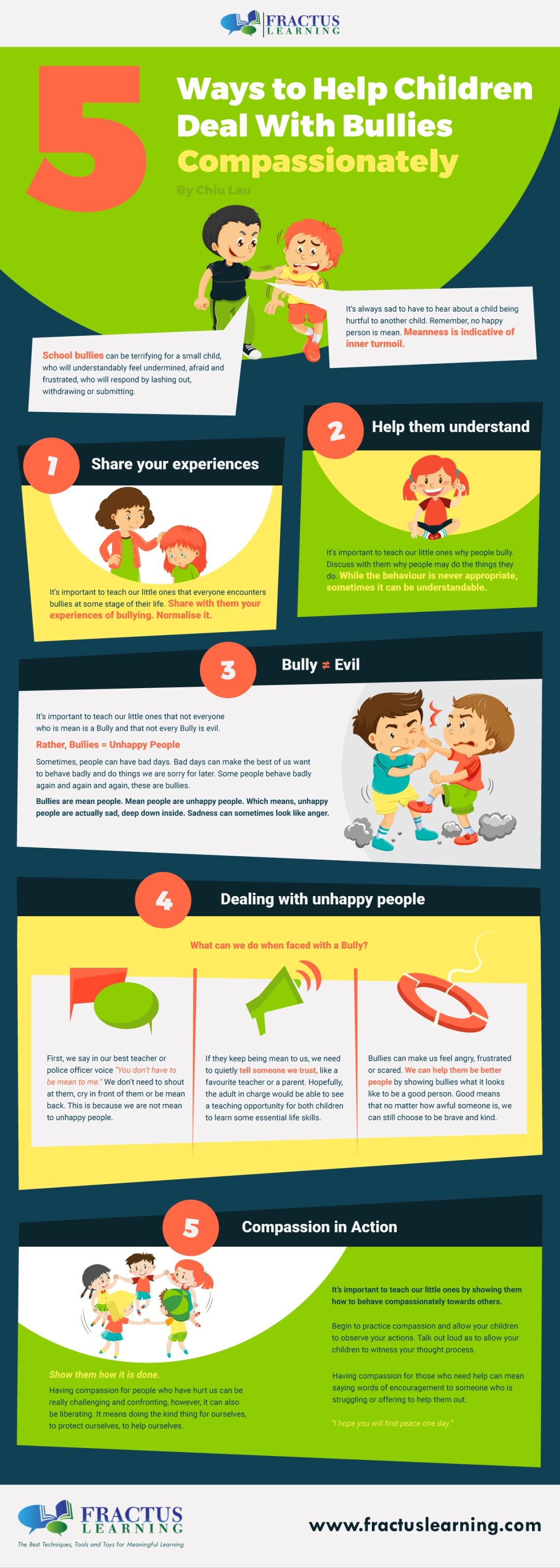 5 Ways to Help Children Deal with Bullies Compassionately