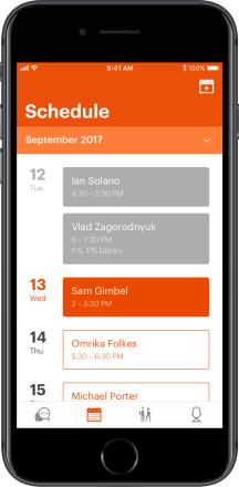 Schedule – Phone Container