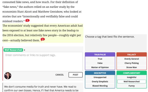 Fiskkit - news tech tool