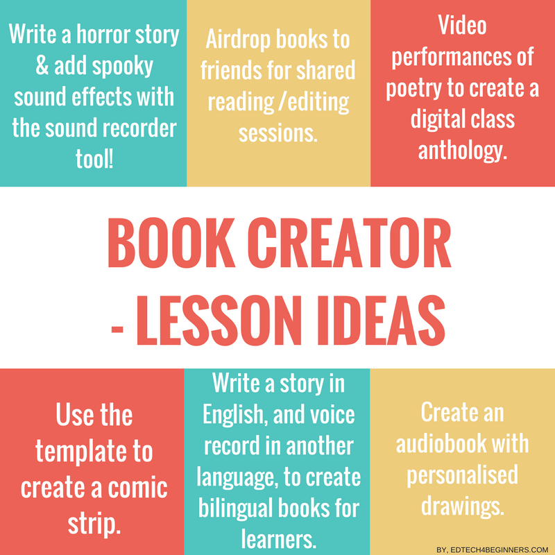 Book Creator - Lesson ideas