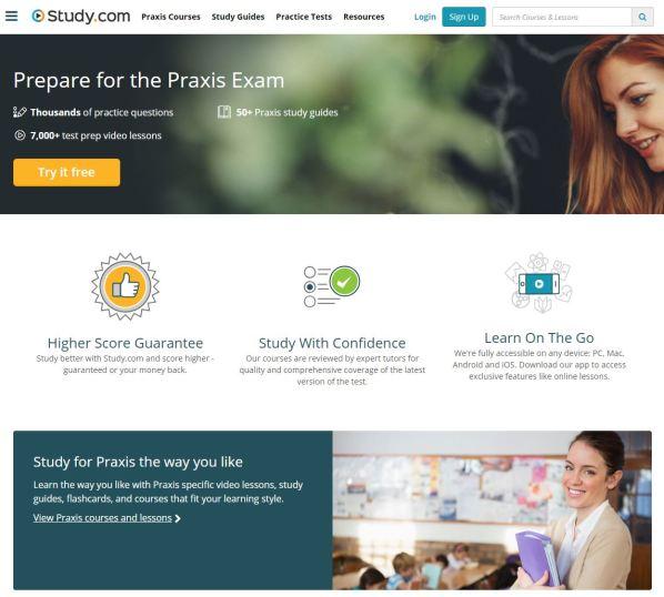 Study.com Praxis Hub