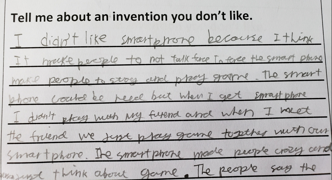 Children's opinions about inventions