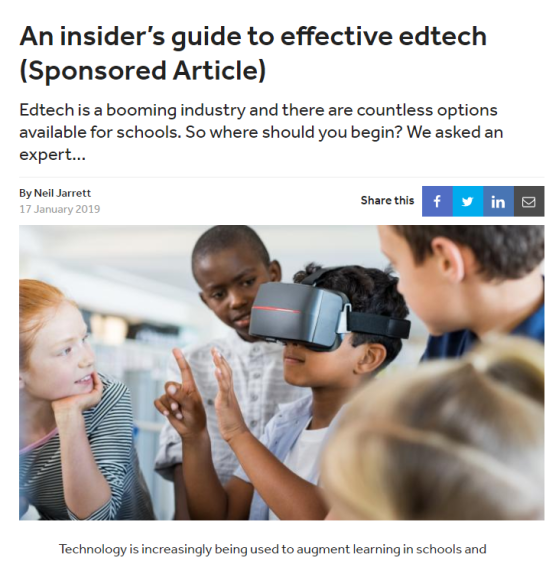 An insider's guide to effective edtech